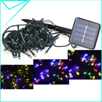 outdoor solar christmas lights - 100 LED Solar String Lights Christmas Party Outdoor Garden Decorations Fairy Color Flashing Constant Mode H9921