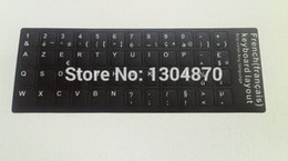 Wholesale FreeShipping French Letters Alphabet Learning French Keyboard Sticker Desktop Computer Keyboard inch Or Above Tablet PC