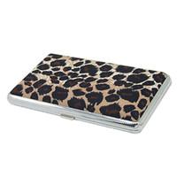 Wholesale Pocket Leopard Pattern Metal Cigarette Cigar Case Holder