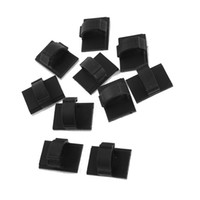 Wholesale 10 Rectangle Self adhesive mm Cable Tie Mount Clips Black