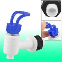 Wholesale 15mm Thread Dia Plastic Bottled Water Dispenser Spigot Valve Faucet Blue White