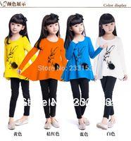 korea fashion blouse - New Fashion Girls Cotton Tees Spring New Model Loose Blouse Girls Printing Tops Korea Child Clothing