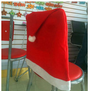 Wholesale 50 cm Christmas chair covers Christmas upscale chair back seat cover sets Christmas table decoration