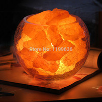 salt crystal lamps - Natural crystal salt lamp surpassingness fashion lamp dimming radiation resistant negative ion salt crystal lamp chandelier