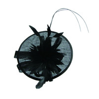 Wholesale Fashion Sinamay headband fascinator hat with feather part flower kentucky derby ascot races melbourne cup
