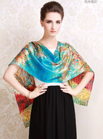 Wholesale 80 inches length fashion lady pure silk Pashmina luxury pure silk scarf long silk tippet