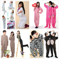 adult footed pajamas - Women Men Female Male Polar Fleece Animal Leopard Hooded Footed Onesie Pajamas for Adults with Hoods Ears Couple Family Pyjamas