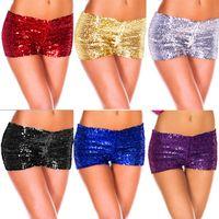 Wholesale Hot New Women Shorts Sequins Shiny Shortsanties Club S Sexy Women Phorts Colors
