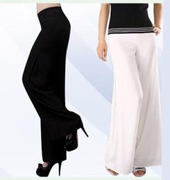 Wholesale-Plus Size Long Trousers Chiffon Pants Wide Leg Pants Dance Pants Double Layer Chiffon Trousers Brief Pants & Capris