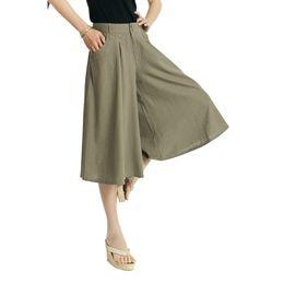 Wholesale-2015 linen pants Women 's pant casual wide leg pants culottes female models summer fashion
