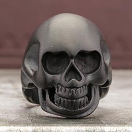 Wholesale Rings For Men Skull Ring Black L Stainless Steel Ring Jewelry Retail Rings