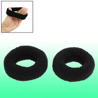 Wholesale 1 Inch Wide Soft Elastic Plush Ponytail Holder Hair Tie Band Black