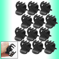 Wholesale 12 Black Plastic Mini Hairpin Claws Hair Clip Clamp Ladies