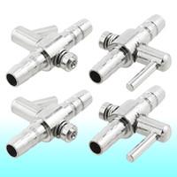 Wholesale 0 quot Connector Diameter Silver Tone Metal Tubing Aquarium Air Valve