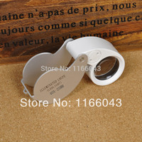 Wholesale White New Special Jewelry Magnifier MG21011 x mm Glass Magnifying Magnifier Jeweler Eye Jewelry Loupe Loop LED