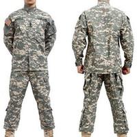 achat en gros de acu bdu-costume gros-BDU ACU Camouflage fixe militaires Armée uniforme combat Airsoft uniformes pantalon veste -Seulement