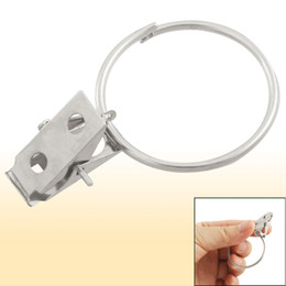 Wholesale 8 Stainless Steel Split Clip Ring Sprung Curtain Clips for Home