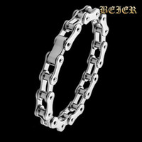 Wholesale PUNK Biker L STAINLESS Steel Mens Bracelet Fashion Jewelry Bike Bicycle Chain Bracelet Jewellery TGSL018