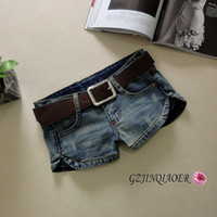 women sexy jeans - Jeans woman short jeans S XXL cotton button split elastic skinny vintage sexy low waist trousers placketing female shorts denim jeans