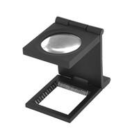 Wholesale Black Metal Folding Magnifier Magnifying Glass Jewelry Loupe X