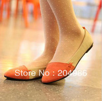 Wholesale Bargain price big discount New Women Girl Casual Shoes Comfort Ballet Patchwork Low Heels Flat Loafers SM057