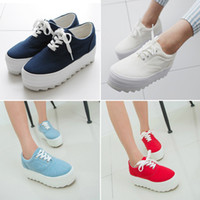 creepers - XWK054 Women Flasts New Fashion Creepers White Platform Shoes Lace Up Round Toe Ladies Creepers Shoes