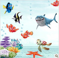 Wholesale finding nemo fish wall stickers child shower room sticker wall paper