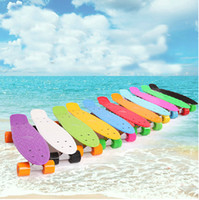 snake skateboard - 2015 Pastel Color Penny Style Skateboard Inch Complete skating mini longboard Gift Retro Cruiser fish long board skate