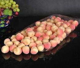 Wholesale 100pcs Cartificial Peach Faux Fruit Fake Peaches House Kitchen Party Decor