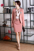 ladies skirt suits - New Fashion Women Skirts Suits for OL Office Ladies Career Business Blazer Sets Work Wear Autumn Spring
