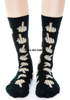 Cheap Wholesale-Stylish UNIF Focks Middle Finger Fuck You Socks Men Women Unisex O S Free Shipping