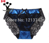 Wholesale and Retail Fashion sexy cutout embroidery luxury satin flower women s trigonometric panties