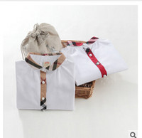 Wholesale promotions splicing New Oxford check shirt Western wind boys shirts baby shirts