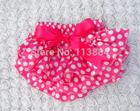 Wholesale Colorful Baby Ruffles Bloomers Layers Girl Satin Shorts with Ribbon Bows Newborn Diaper Covers Infant Pants with Skirt Free Ship