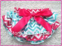 Wholesale pc chevron satin bloomers za kids ruffle toddler baby underwear blue hot pink babies clothing Mini