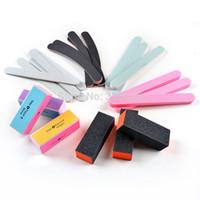 Wholesale HOT Nail Art File Buffer Block Manicure Pedicure Tools Sand Paper Foam UV Gel Set
