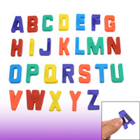 Wholesale 26 Magnetic Base Plastic English Letters Alphabet Fridge Stickers