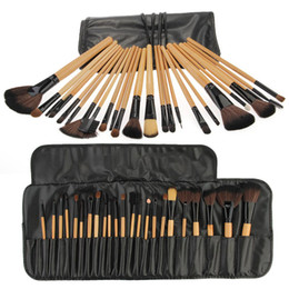 Wholesale Set Professional Cosmetic Makeup Blush Powder Eye Shadow Brush Pouch