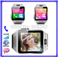 Wholesale Smart Bluetooth Watch phone GV08 Sync Call SMS Anti lost camera support SIM card for Android for iphone men and women