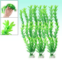Wholesale 12 Inch Height Green Plastic Underwater Plants Ornament for Aquarium