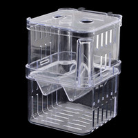 Wholesale Clear Plastic Retangle Shape Seperate Fish Fry Breeding Divider Tank Aquarium