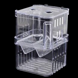 Wholesale Clear Plastic Retangle Shape Seperate Fish Fry Breeding Divider Tank Aquarium