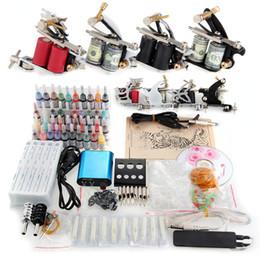 Wholesale Kit Tattoo Machines Guns Equipment Ink Cups Power Supply Needles Set