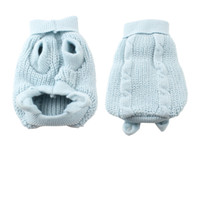 Wholesale Light Blue Turtleneck Knitting Pet Dog Doggie Cat Clothing Sweater Coat XXS
