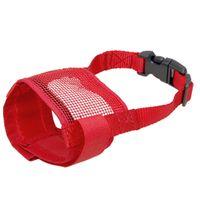 Wholesale Doggie Dog Pet Anti Bark Red Chew Mesh Muzzle Mask Size XS