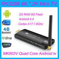 android pc stick - Newest MK903V RK3288 Quad Core Cortex A17 Android Smart Mini PC TV Stick Ultra HD K HDMI WiFi H H BDMV MKV Player
