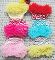 ruffle diaper cover - Hot Sale Baby Cotton Chevron Ruffle Bloomers Shorts Infant Chiffon Chiffon Pants Kids Diaper Covers pieces