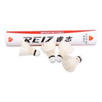 Wholesale 12pcs Duck Feather Badminton Shuttlecocks Training Sports