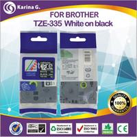 printer ribbon - 12mm printer ribbon ruban cassette for brother TZ mm m white on black high quality