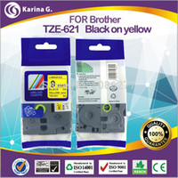 Wholesale 9MM black on yellow compatible lable tapes laminated adhesive tapes for brother TZ m